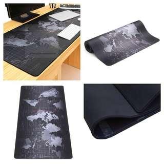 Anti-Slip World Map Black Large Wide Size Gaming Mousepad Desk Mat