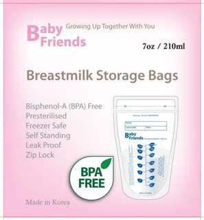 Baby Friends breast milk storage bags (70pcs)