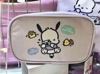 日本Sanrio Pochacoo PC狗 Pouch 化妝袋 拉鍊袋 小物袋
