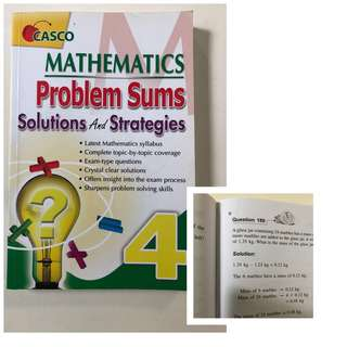 P4 Maths Problems Sums Solution & Strategies book