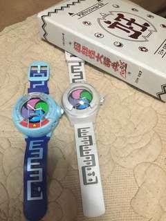 🚚 妖怪手錶兩隻正品,加妖怪大辭典收集冊,內含數枚妖怪卡如圖。