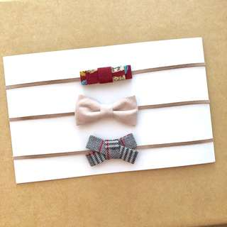 🚚 Combo Set [Bow Design] - Handmade Baby Headband
