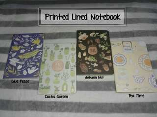 Printed Lined Notebook