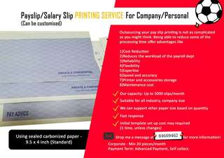 PAYSLIP ♡ SALARY SLIP ♡ PRINT ♡ OFFICE PERSONAL COMMERCIAL ♡ DOT MATRIX ♡♡