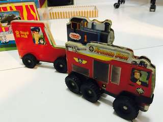 Vehicles shaped hard broad picture books- Thomas, Firemansam & Royal Mail