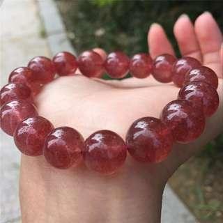 草莓晶手串 11-12mm