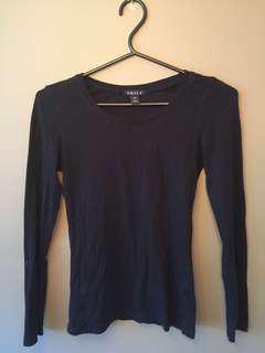 Plain black long sleeve