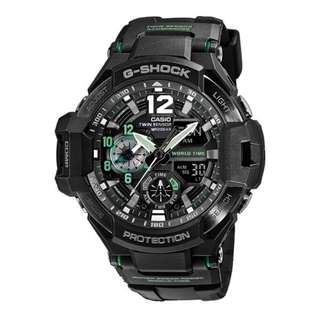 only hk$1249, 100% new G-Shock Men's GA-1100-1A3 Gravitymaster Watch手錶