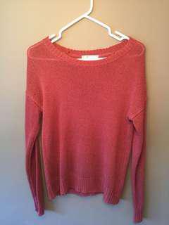 Dark coral knit sweater