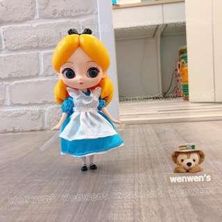 【Wenwens】日本帶回 日版 CUICUI Alice 迪士尼 愛麗絲 doll 布偶 娃娃 可動 關節 公仔