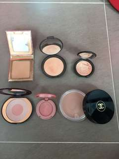 Highlighters, Blushes and Bronzer