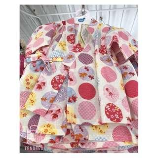 🚚 慶開幕《日本快速代購》日系金魚(A) 幼兒浴衣 100%日本純棉