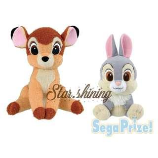 日本直送☆日版Bambi & Thumper公仔  迪士尼 小鹿斑比與桑普兔 deer bunny plush