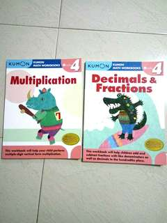 Kumon multiplication and decimals and fractions grade 4