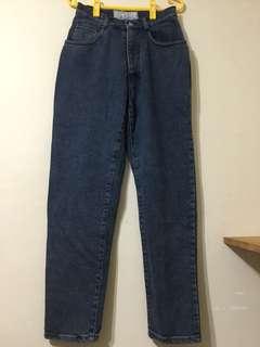 🚚 【古著】義大利pop84 深藍高腰牛仔褲