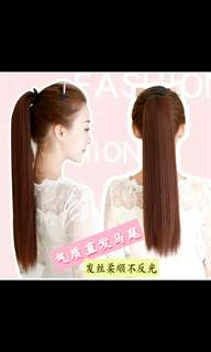 Preorder Korean straight ponytail tie on hair extension * waiting time 15 days after payment is made * chat to buy to order