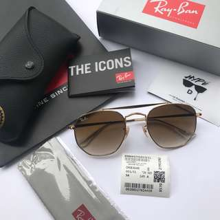 Authentic Ray Ban Marshal RB3648 002/51 Gradient Brown Lens.