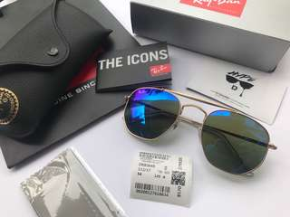 Authentic Ray Ban Marshal RB3648 112/17 Blue Mirror Lens.