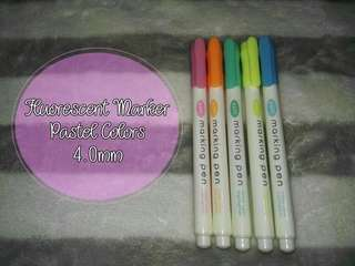 Fluorescent Marker Pastel Colors (Highlighters)