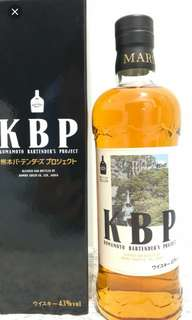 本坊酒造熊本KBP威士忌700ml with box, 限量6000支。