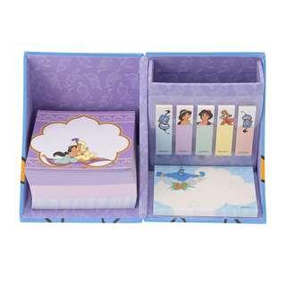 日本 Disney Store 直送阿拉丁 Aladdin 收納式 Memo & Sticky Memo 連筆筒套裝