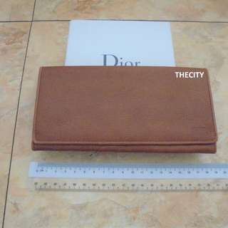 AUTHENTIC DIOR LONG LEATHER FOLDING WALLET