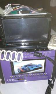 Head Unit DVD player 6.95inch Ultra linier UL 6991 mulus lengkap dengan accesories dan box