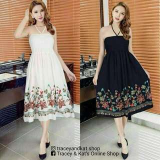 Tube Type Embroidered Dress