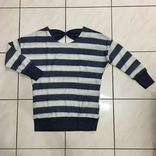 Blue Stripes Sweatshirt