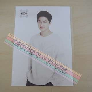 [LAST 1][CRAZY DEAL 90% OFF FROM ORIGINAL PRICE][READY STOCK]EXO SUHO KOREA OFFICIAL POSTCARD 1PC; ORIGINAL FR KOREA (PRICE NOT INCLUDE POSTAGE); POSLAJU:PENINSULAR AREA :RM10/SABAH SARAWAK AREA: RM15