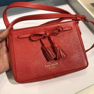 Authentic kate spade crossbody bag leather