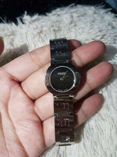 Auth Fendi Sapphire Crystal 3 Atm