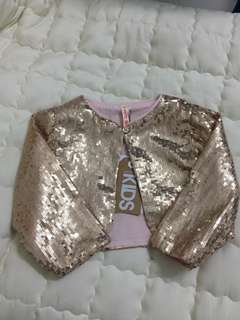 Girl sequin Bolero, (Sequin Gold)