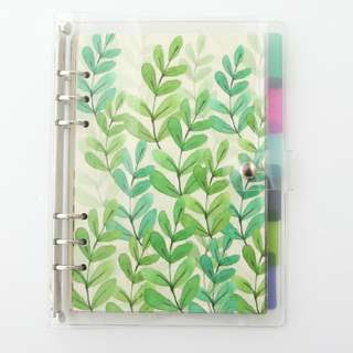 [PO] #1 customisable 6 ring binder notebook plant set (A5/A6)