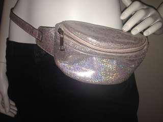 Pink sparkly fanny pack