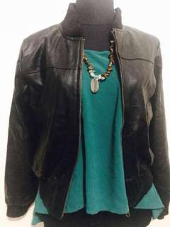 Faux Leather Letterman Jacket for Her! High Quality Reversible style