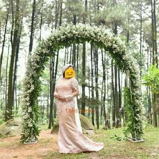 Gaun pengantin mermaid 'dusty pink '