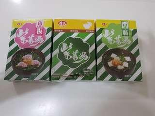 ✈大玩台灣代購✈台灣味王即沖紫菜湯3種口味5~10入/包