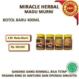 Miracle Herbal Madu Murni 4 Bt isi 400 ml