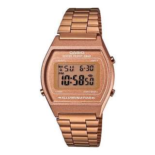 AUTHENTIC Casio Vintage B640WC-5A Rose Gold Watch