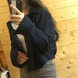 🚚 全新 短板 深藍色 外套