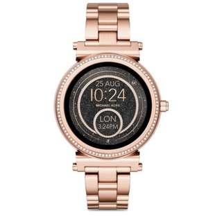 *原價6折*MICHAEL KORS Sofie 觸屏式玫瑰金智能手錶 MKT5022 原價$3,550