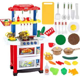 *In Stock* BN 83CM Red Kitchen w/Lights & Sounds Cooking Utensils Play Set ~ Red / Blue