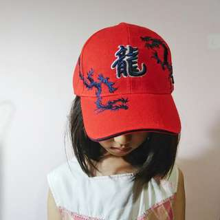🚚 龍 紅色 帽子