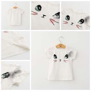Meow Cat Tshirt 2-4yrs