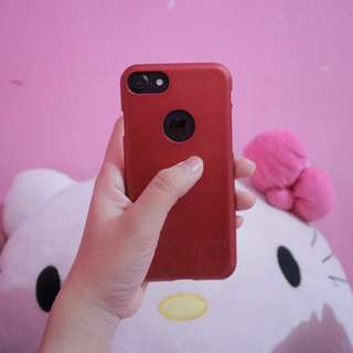 Softcase iphone 7 red matte