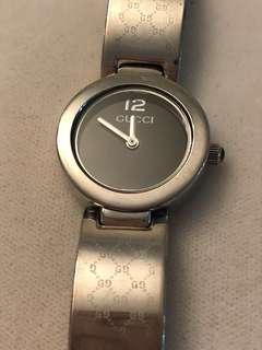 Authentic Gucci silver watch
