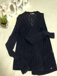 F&X Navyblue Knitted Cardigan