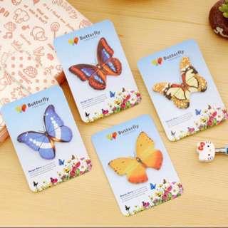 🚚 Butterfly sticky note