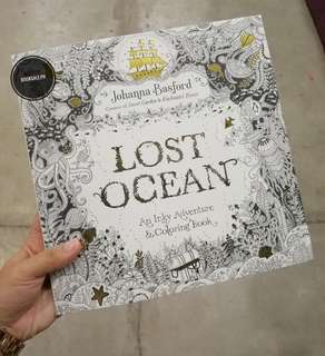 BRAND NEW! Lost Ocean Adult Coloring Book